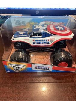 1/24 HOT WHEELS MONSTER JAM CAPTAIN AMERICA 1st EDITIONS MAX