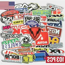 103Pcs Auto Car Parts NHRA Drag Racing Vinyl Graphics Sticke
