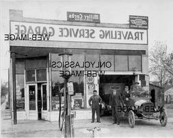 1925 MILLER CORD AUTO DEALER SERVICE GARAGE GAS PUMP PHOTO A