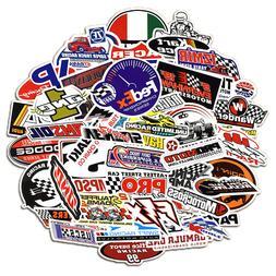 50Pcs Auto Car Parts NHRA Drag Racing Lot Vinyl Graphics Sti