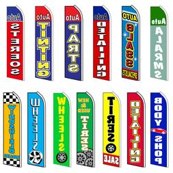 Auto Body Advertising Feather Flag Flutter Swooper Sign Bann