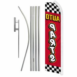 AUTO PARTS SUPER FLAG POLE KIT W/ GROUND SPIKE ry