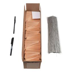 Auto Parts Tags 1000 Pc Box Blank Manila Card Stock Wire Pen