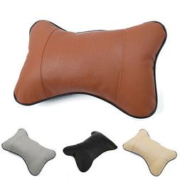 Auto Seat Head Rest Cushions Memory Neck Support Pillow Blac