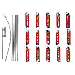 Automotive Services Swooper Flag Kit Feather Flutter Super F