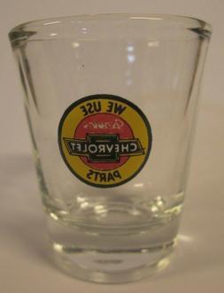 CHEVROLET GENUINE  AUTO  PARTS LOGO SHOT GLASS