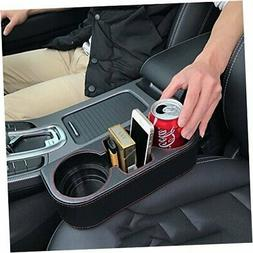 Coin Side Pocket Console Side Pocket Leather Cover Car Cup H