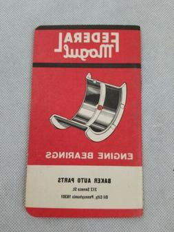 Federal Mogul Engine Bearings Baker Auto Parts Note Book Pri
