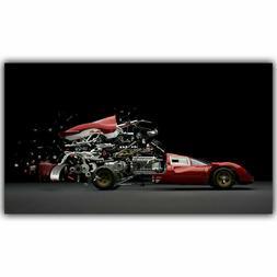 H268 Sports Car Auto Parts Combination Custom Hot New Poster
