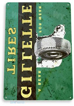 Gillette Tires Garage Auto Shop Parts Rustic Metal Tin Sign