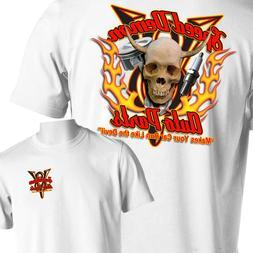Hot Rod Auto Parts T-Shirt Skull Flames Rat Rod Tattoo Small