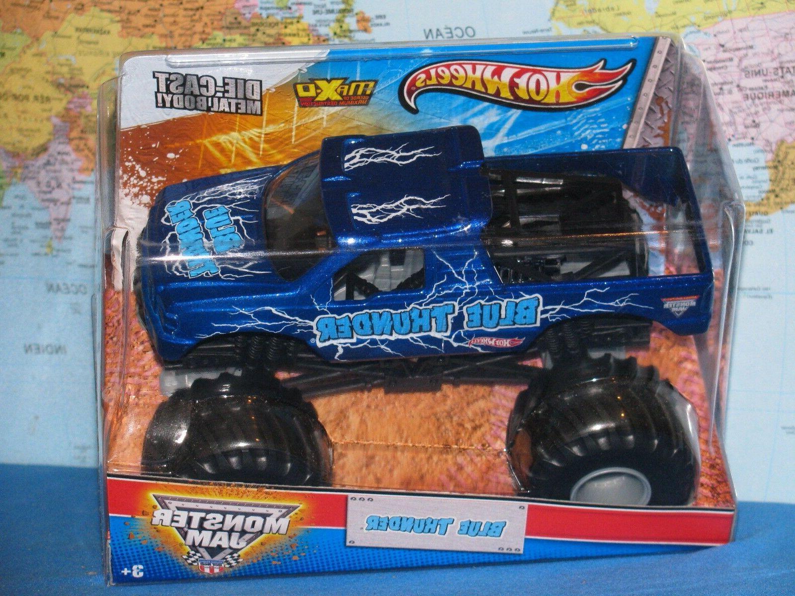 1 24 monster jam blue thunder truck