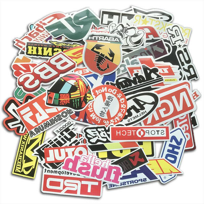100Pcs Auto Car Parts NHRA Drag Racing Vinyl Graphics Sticke