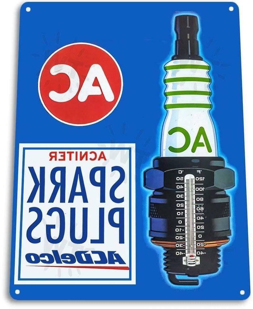 spark plugs garage auto shop parts sign