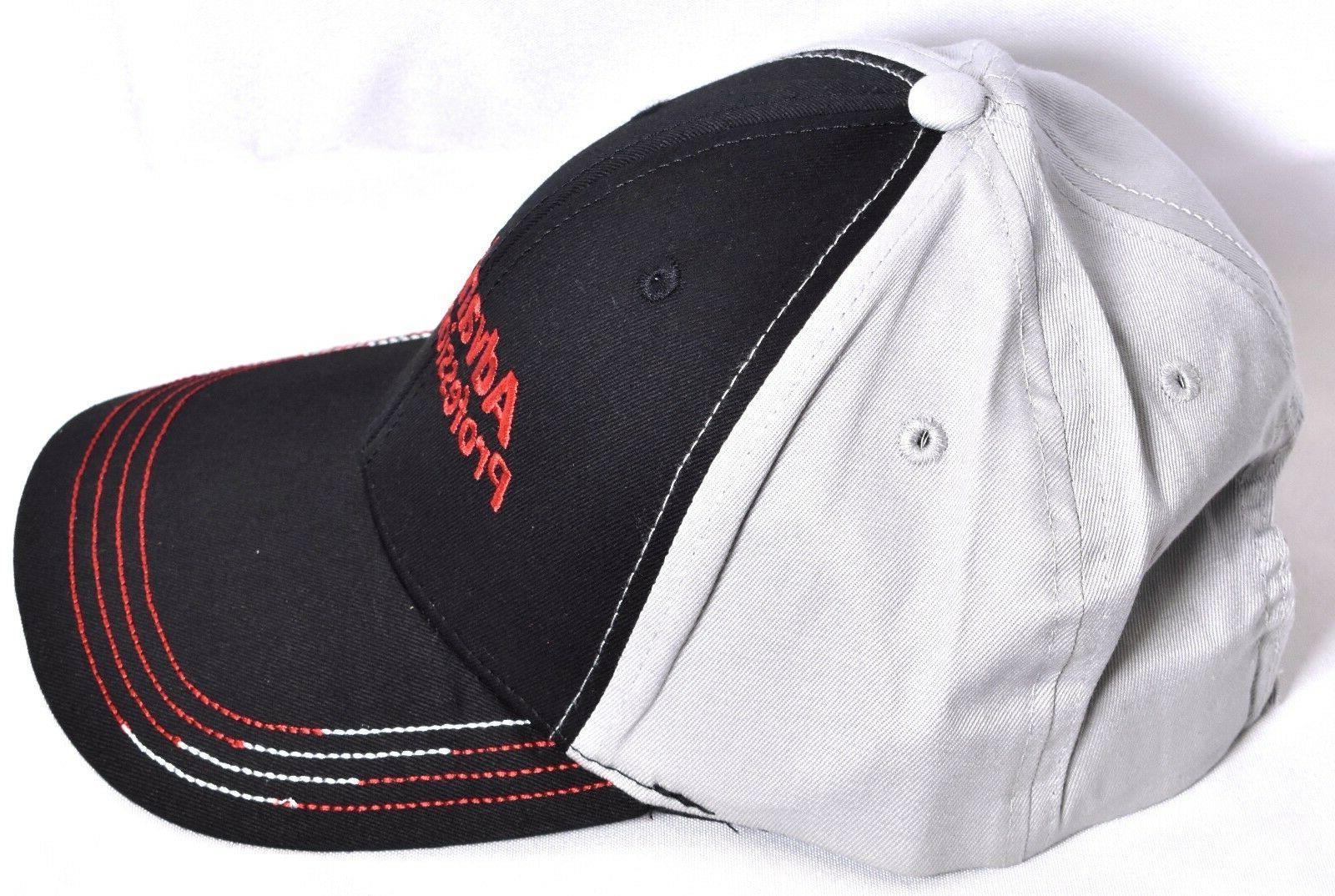 ADVANCE PROFESSIONAL Black & Gray Baseball Hat/Cap Adjustable