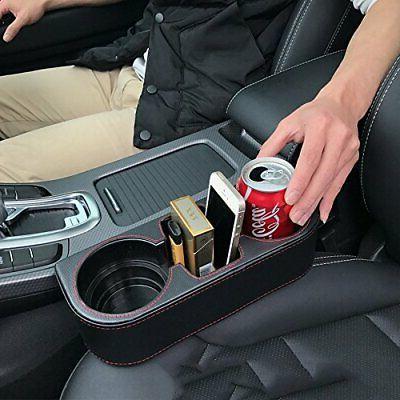 Coin Pocket Side Pocket Car Cup Black