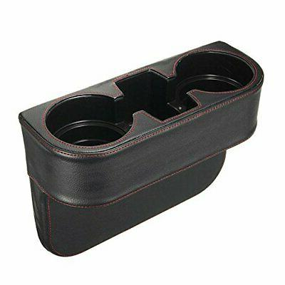 Coin Console Side Car Cup Holder Auto Black