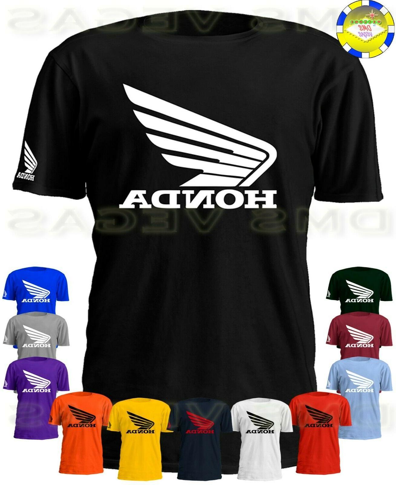 honda racing motorcycle atv wing logo tee