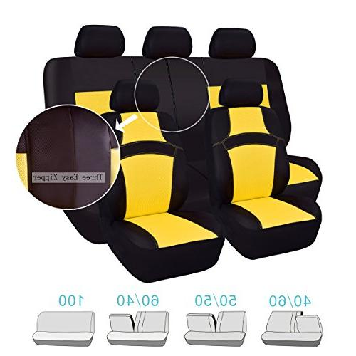 NEW RAINBOW Universal Fit Seat Cover Breathable With Inside,Airbag
