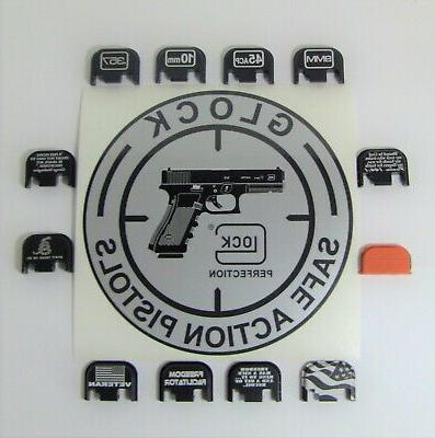 GLOCK Upper Parts Kit; OEM parts & Buyer Engraved Plate