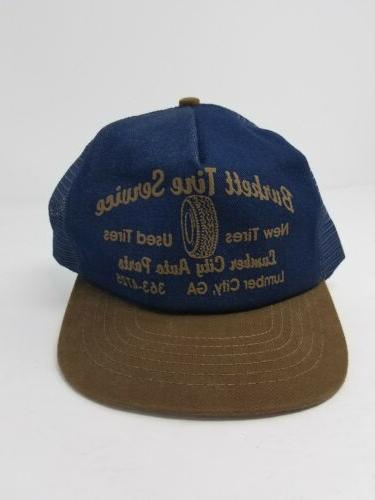 vintage trucker snapback cap hat burkett tire