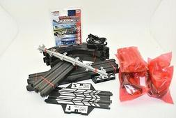 MEGA LOT OF AUTO WORLD TRACK ,SUPPORTS,TRANSFORMER HAND THRO