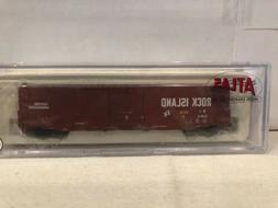 N SCALE 50000337 60' AUTO PARTS BOXCAR SINGLE DOOR ROCK ISLA