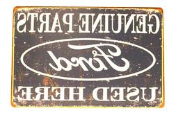 new ford auto parts tin sign art