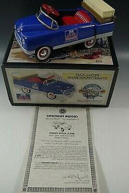 PEDAL CAR BANK 1948 BMC CAR TRUCK DIE CAST 1:6 SCALE BIG A A