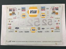 Slixx NAPA AUTO PARTS JIMMY MEANS 1/24 Waterslide Decals