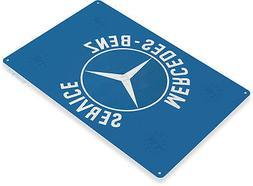 TIN SIGN Mercedes-Benz Service Oil Gas Parts Service Auto Sh