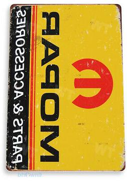 TIN SIGN Mopar Parts Metal Décor Wall Art Garage Auto Shop