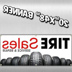 TIRE SALE BANNER  muffler alignment brake ac parts auto shoc