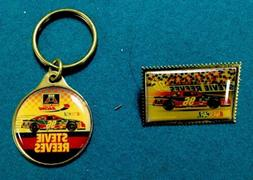 Vintage NASCAR American Auto Parts Stevie Reeves Pin And Key