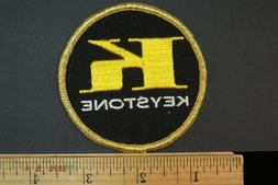 Vintage Sew-on Keystone Aftermarket Auto Parts Embroidered P